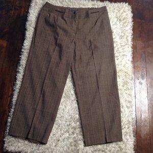 Larry Levine Woman Plaid Print Pants Size 18W